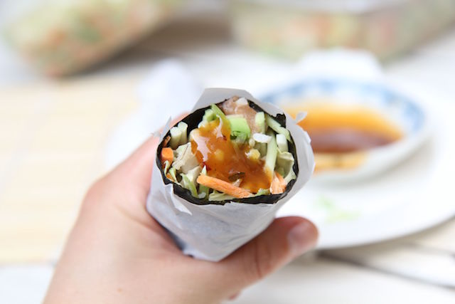 Sushi Burrito Loaded with Fresh Veggies – Gluten-Free, Dairy-Free and Low Calorie!