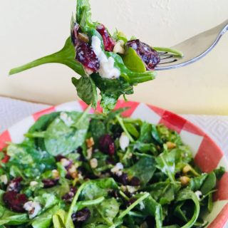 cranberry kale salad arugula walnut goat cheese vegetarian gluten free