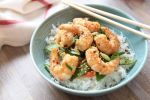 Maple Ginger Shrimp Stir Fry with Carrots and Snow Peas - gluten free pescetarian no refined sugar
