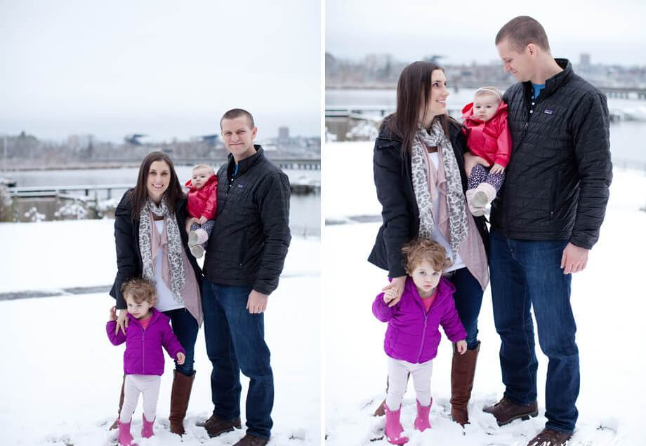 E Family Session | Snow Day in Madison Park