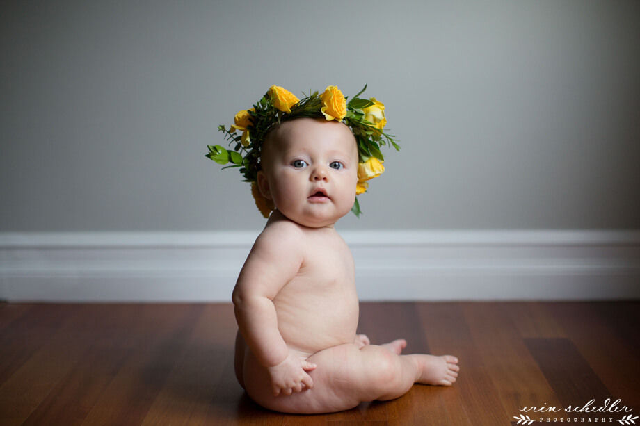 6 Month Baby Milestone // Seattle Modern Studio Photography