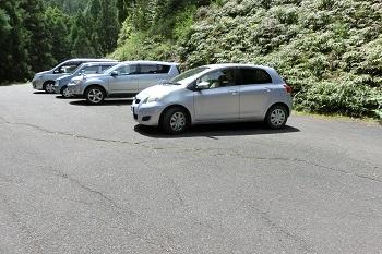太龍寺までの道のり、途中の駐車場