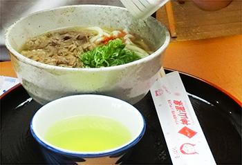 徳島県神山温泉・肉うどん