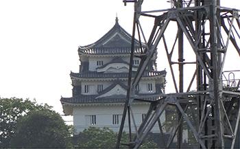 四国別格6番龍光院からの景色・宇和島城