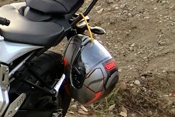ヤマハMT-07ヘルメットホルダー