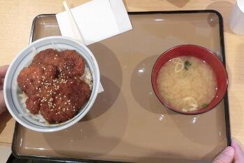大津SA・赤赤鶏のソースかつ丼