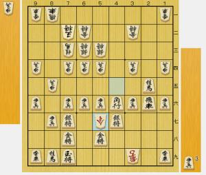 70手目△5七桂成