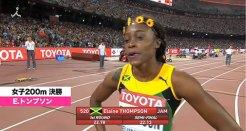 女子200メートル決勝E・トンプソン
