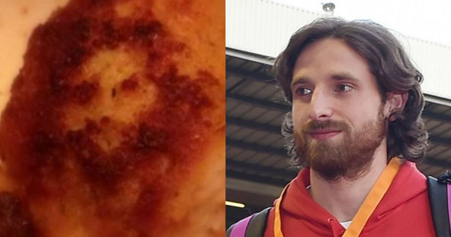 Joe Allen (left) and a chicken nugget (right).