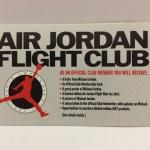 25年前の「AIR JORDAN FLIGHT CLUB」入会申込書