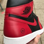 "fragment design x Air Jordan 1 ""Bred"" 新たな画像を入手!"