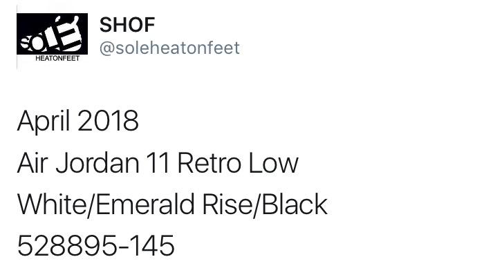 エア ジョーダン11 レトロ ロー 2018年 発売