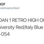 "AIR JORDAN 1 RETRO HIGH OG ""Q54"" カラーが判明!"