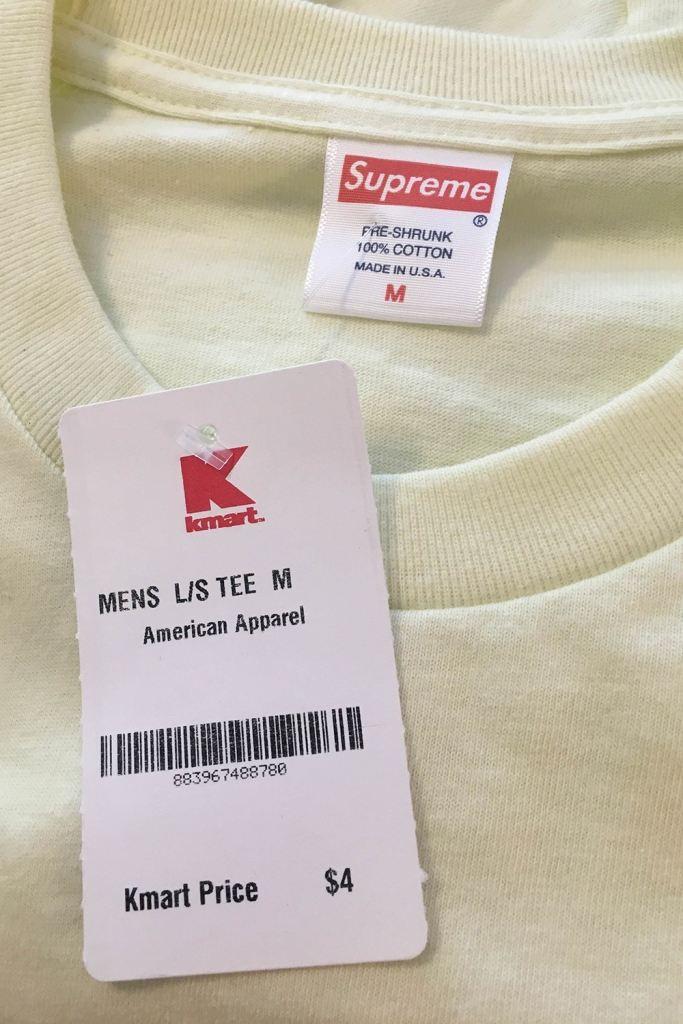 シュプリーム 無地Tシャツ 4ドル