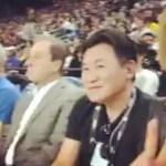 X JapanのYOSHIKIさんがNBAを観戦!