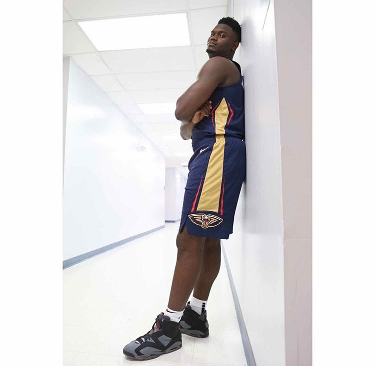 """ザイオン・ウィリアムソン NBAルーキーフォトセッション エア ジョーダン6""""PSG"""