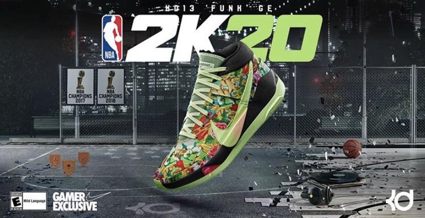 "NBA 2K20 ナイキ KD13 ファン"" GE"