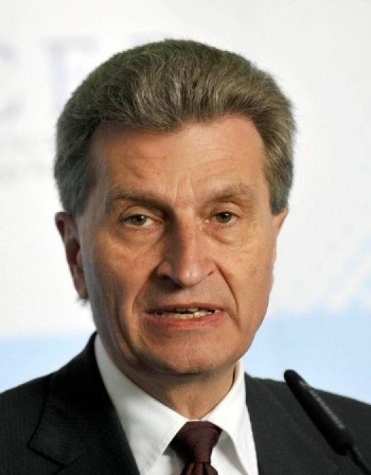еврокомиссар Гюнтер Йотингер