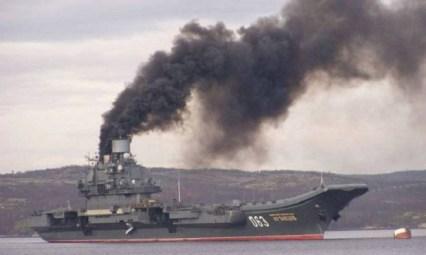 """Резултат с изображение за """"Адмирал Кузнецов"""" дими снимки"""