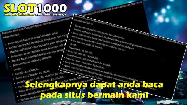 promo dan bonus slot1000