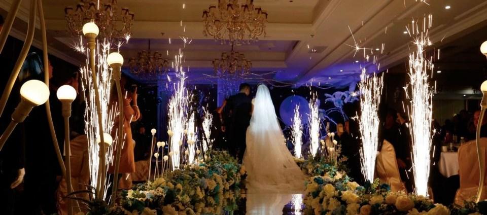 fontaines d'étincelles - animation mariage macon bourg-en-bresse