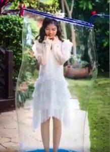 Mariée dans la bulle