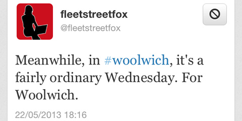 Fleet Street Fox tweet