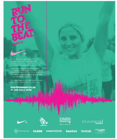 Run to the Beat ad, Greenwich Time