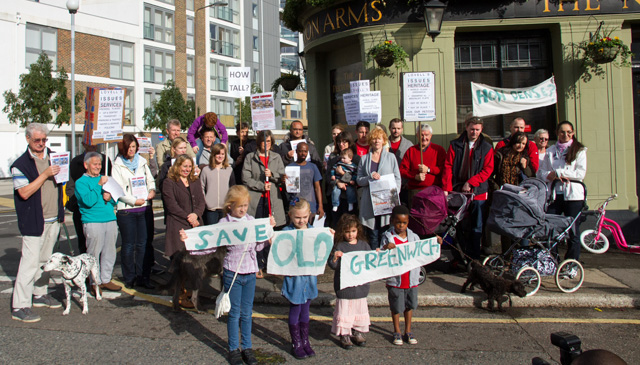Lovell's Wharf protest, 12 October 2012