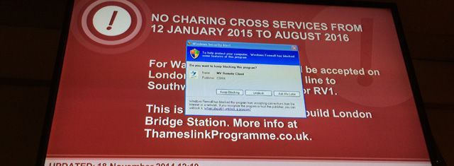 Brilliant publicity at London Bridge station, November 2014