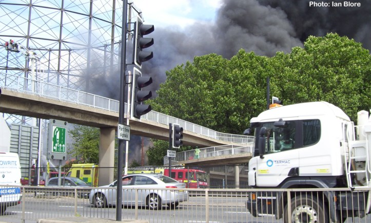 The Mitre on fire