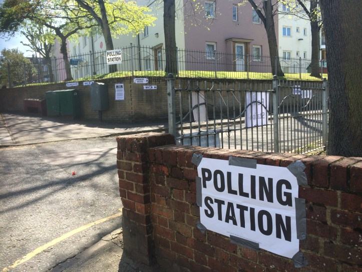Polling station on Victoria Way, Charlton