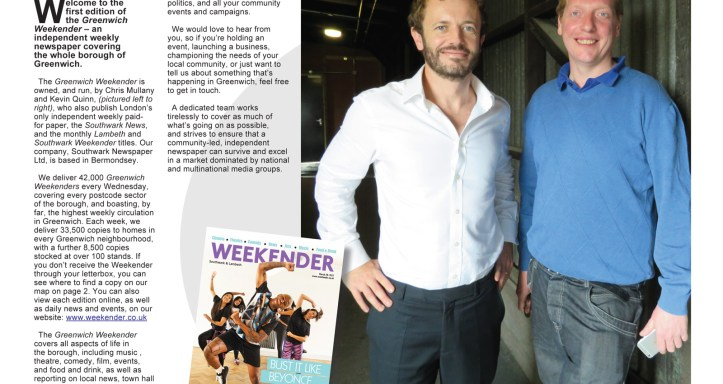 Greenwich Weekender first issue