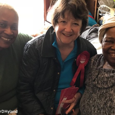 Denise Hyland with constituents