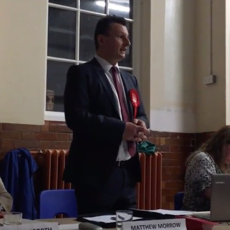 Matt Morrow at Plumstead hustings