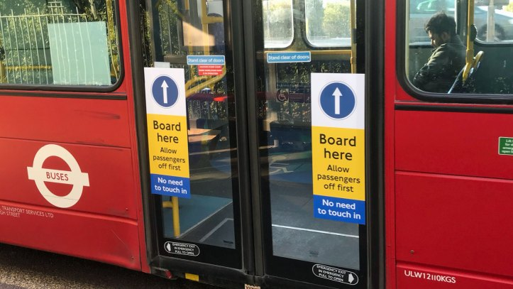 Middle doors on London bus