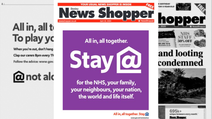 News Shopper wraparound ad