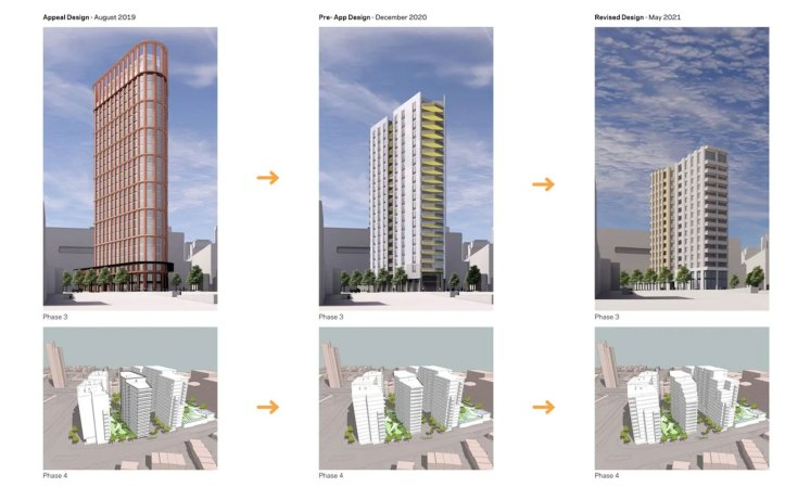 Meyer Homes image of tower being reduced in size