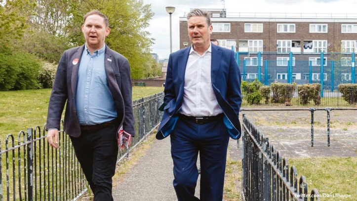 Danny Thorpe and Keir Starmer in Polthorne Estate