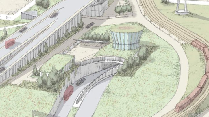 Silvertown Tunnel north entrance drawing