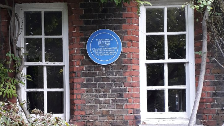 Mocked-up blue plaque in place