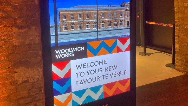 Woolwich Works sign