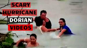 Crazy and sad videos of Hurricane Dorian
