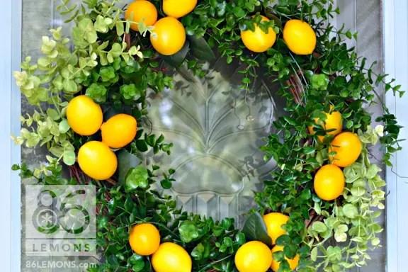 Diy Lemon Wreath 86 Lemons