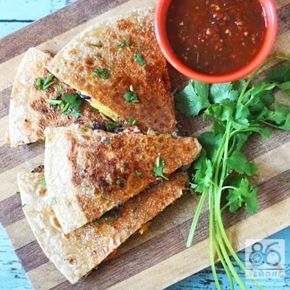 overview of veggie quesadilla