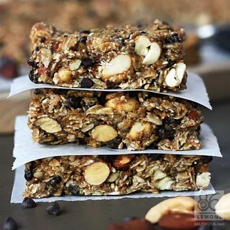 Chocolate Peanut Butter Breakfast Bars (vegan, gf) - 86 Lemons