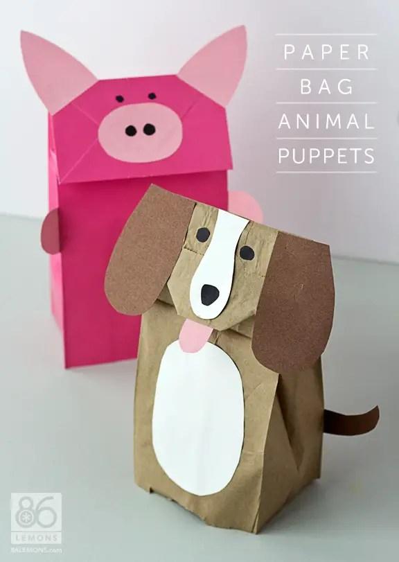 Tutorial Paper Bag : tutorial, paper, Report:, Paper, Animal, Puppets, Lemons