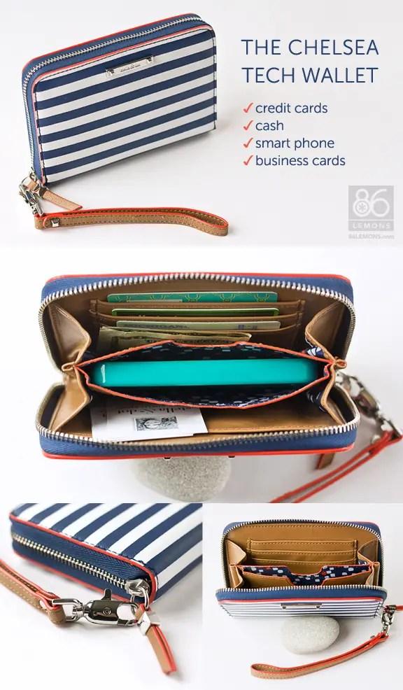 Chelsea Tech Wallet (fits smart phone)  86lemons.com #giveaway #wallet #accessories #iphone