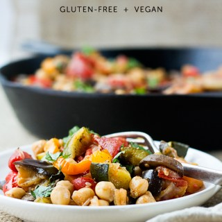 Vegan Chickpea Ratatouille Recipe (Gluten Free)