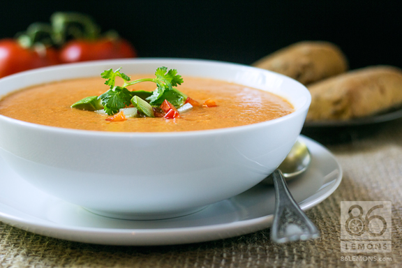 Creamy Gazpacho Recipe from Mon Ami Gabi #vegan #glutenfree #soup #summer #fresh